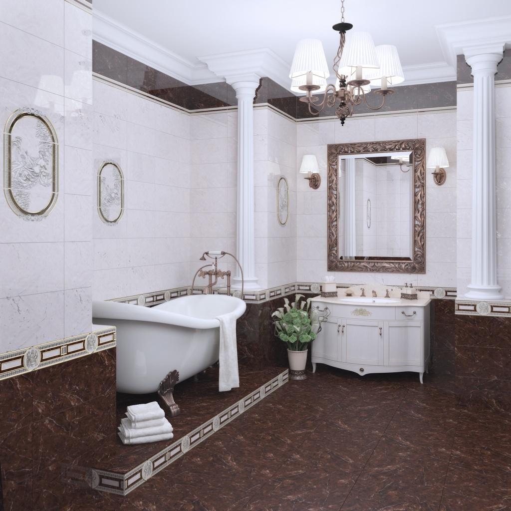 дизайн плитки пьетра в ванной комнате фото #1